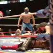 Ringside at the famous lucha libre mexican wrestling at arena mexico - Stock Photo