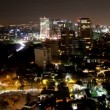 A panning time-lapse of the mexico city skyline at night — Stock Video