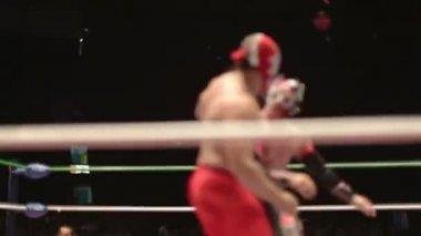 Ringside på berömda lucha libre mexikanska brottning på arena mexico — Stockvideo