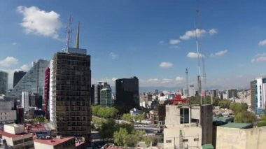 A time-lapse of the mexico city skyline — Stock Video