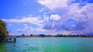 View of ocean, miami, florida — Stock Video