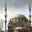 Timelapse of the Nusretiye cami mosque in istanbul - Stock Photo