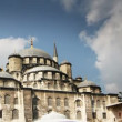 Panning shot of the yeni cami mosque in istanbul, turkey - Foto Stock