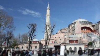 Timelapse de la santa iglesia de sofía en estambul — Vídeo de Stock
