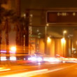 Rush of night time traffic on motorway in timelapse scene — Stock Video #18102111