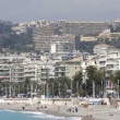 Beach and skyline view, nice, south of france — Stock Video