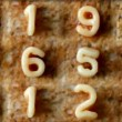Number sequence made from spaghetti pasta letters — Stock Video #18114281