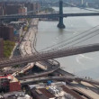 Timelapse of manhattan skyline and brooklyn bridge from a high vantage point — Stock Video #18114623