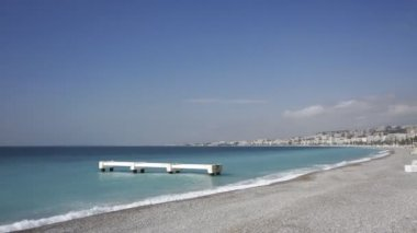 Beaches and promenade d'anglais in nice — Stock Video