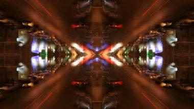 都市 blured ライトから作られたパターン — ストックビデオ