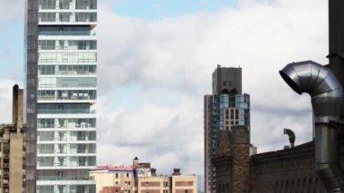 曼哈顿天际线从高角度的视图 — 图库视频影像