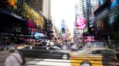 Timelpase of times square, new york — Stock Video