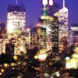 Overlayed abstract timelapse of midtown manhattan skyline - Stock Photo