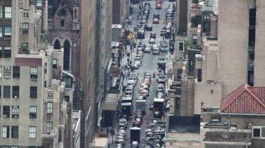 Экстрим заделывают Нью-Йорк стрит сцены — Стоковое видео