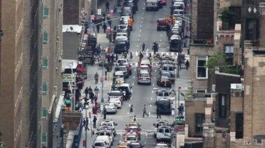 Bliska ulica sceny w Nowym Jorku — Wideo stockowe