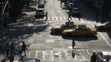 Timelapse of a new york street scene — Stok video