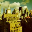Panning time-lapse of manhattan skyline — Vídeo de stock