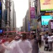 Stock Video: Timelpase of times square, new york