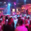 Stock Video: Timelapse shot of audience dancing at nightclub