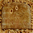Stop motion animation with spaghetti letters on toast — Stock Video