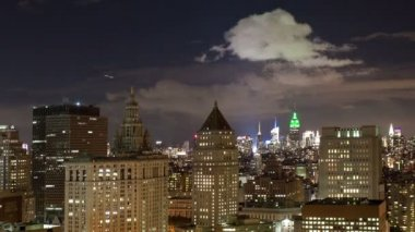 Timelapse view of manhattan skyline — Stock Video