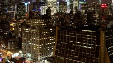 View of manhattan skyline from a high vantage point — Stock Video