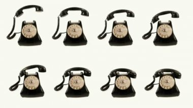 Stopmotion of an old style telephone ringing — Stock Video