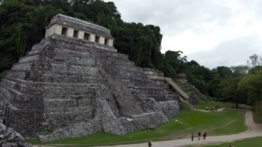 Timelapse shot of the mayan ruins at palenque — Stock Video