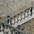 Walking up and down outdoor steps in paris - Stock Photo