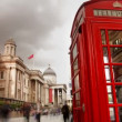 A famous london phone box - Stock Photo