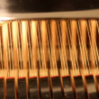 Stock Video: Detail of piano hammers and strings
