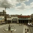 Placa vieja timelapse shot from a roof terrace — Stock Video