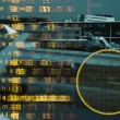 Data and information associated with aircrafts and aviation with plane — Vídeo de stock