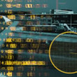 Data and information associated with aircrafts and aviation with plane — Stok video