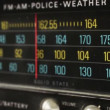 Stop motion of a great retro radio with police band — Stock Video