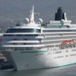A large cruise ship in the harbour in puerto vallarta - Stockfoto
