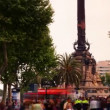 Rushing about on las ramblas — Stock Video