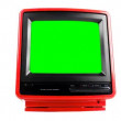 Stop motion of a fantastic retro red television — Stock Video