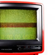 Stop motion of a fantastic retro red television — Stock Video #18549737