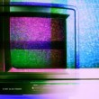 Stop motion of a fantastic retro red television — Stock Video #18549877