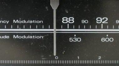 Detalhe de um fantástico retrô ghetto blaster — Vídeo Stock