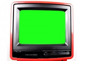 Stop motion of a fantastic retro red television — Stock Video #18549637