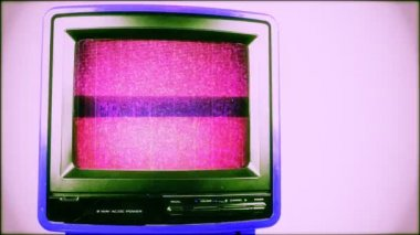 Stop motion of a fantastic retro red television — Stock Video #18549801