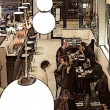 A timelapse shot during the dinner period of a busy stylish restaurant — Vídeo de stock