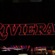 Riviera sign in las vegas at night — Stock Video