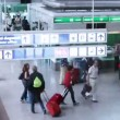 The check in area of rome international airport  — Stock Video