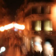 Blurred effect of shopping street in rome — Video