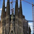 Time-lapse of the ongoing construction work on the sagrada familia — Stock Video