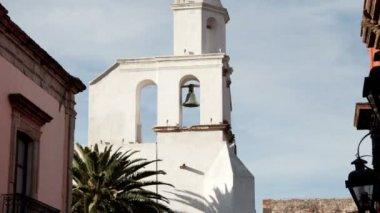 Timelapse de la iglesia de san miguel de allende — Vídeo de Stock