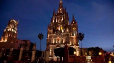 Parroquia kilisesi'nin timelapse — Stok video